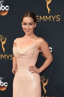 Game of Thrones-skuespiller Emilia Clarke. (Foto: AFP PHOTO / Robyn Beck, NTb Scanpix).