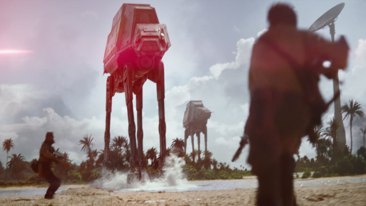 AT-AT i solnedgang. Eventuelt dagslys... (Foto: The Walt Disney Company Nordic, Lucasfilm Ltd.)