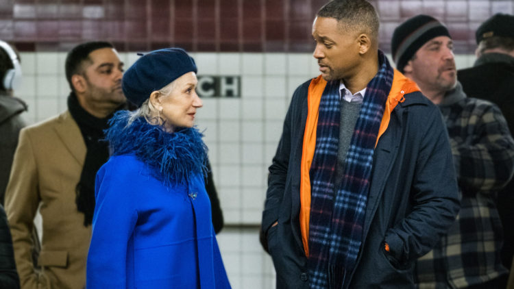 "Howard (Will Smith) blir kontaktet av ""Døden"" (Helen Mirren) i Collateral Beauty. (Foto: SF Studios)"