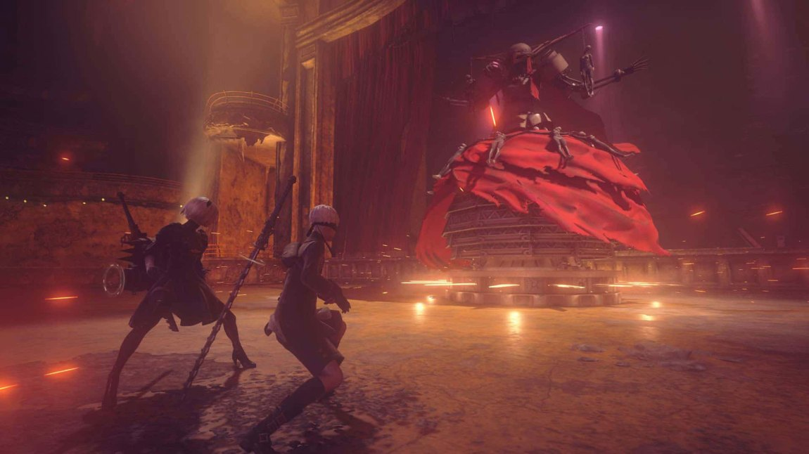 En av fiendene man møter er en robot med skjønnhetskomplekser. (Foto: Square Enix)