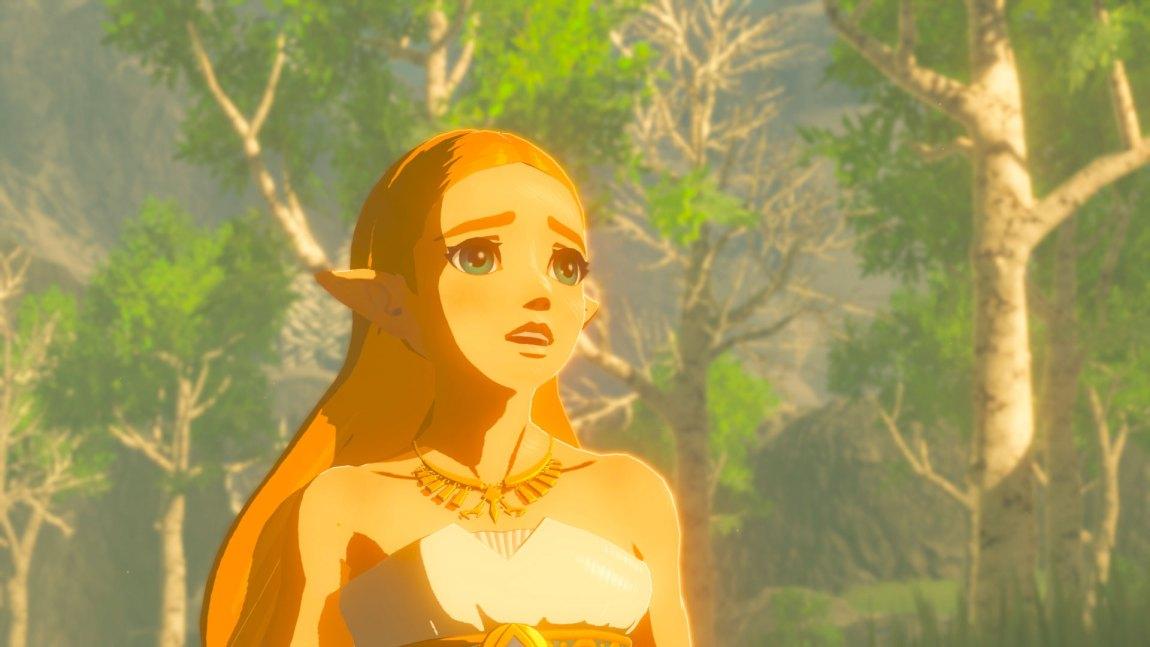 Link lærer om Zelda og seg selv i minner som dukker opp når han besøker steder han har vært før. (Foto: Nintendo).