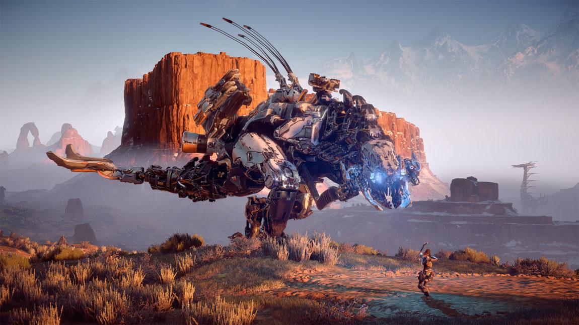 Noen av fiendene i Horizon Zero Dawn er tøffere å bekjempe enn andre. (Foto: Sony Interactive Entertainment).