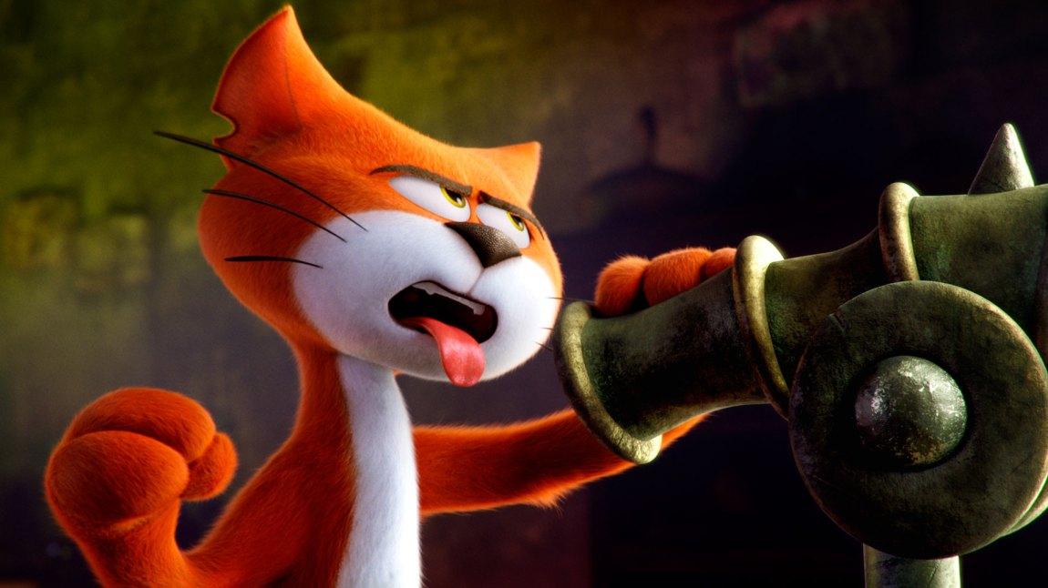3D-versjonen skjemmer 2D-versjonen, men med denne onde og kule katten er med på å sørge for at filmen aldri blir kjedelig. (Foto: United International Pictures)