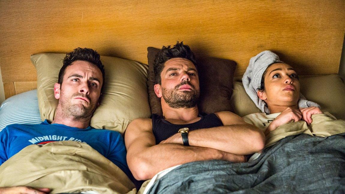 Jeg kan avsløre at det blir mye komisk småkrangling i sesong 2 også. (Foto; AMC, Viaplay)