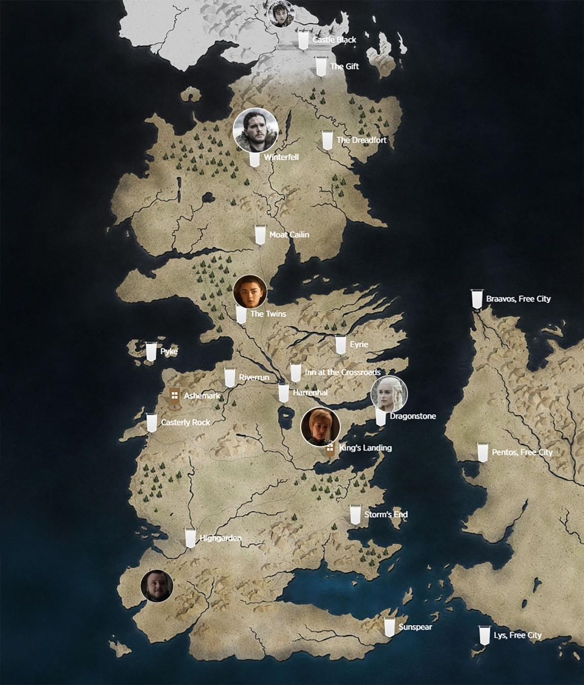 Her er de på kartet. (Foto: HBO Nordic).