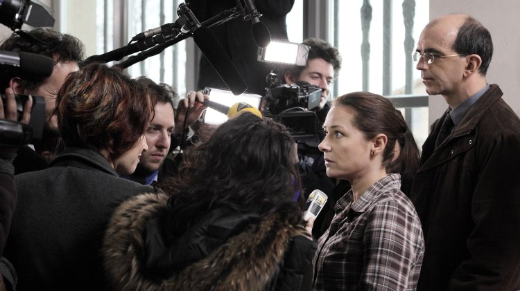 Det er en ny opplevelse for Frachon å være i sentrum av et mediesirkus. (Foto: Norsk Filmdistribusjon)