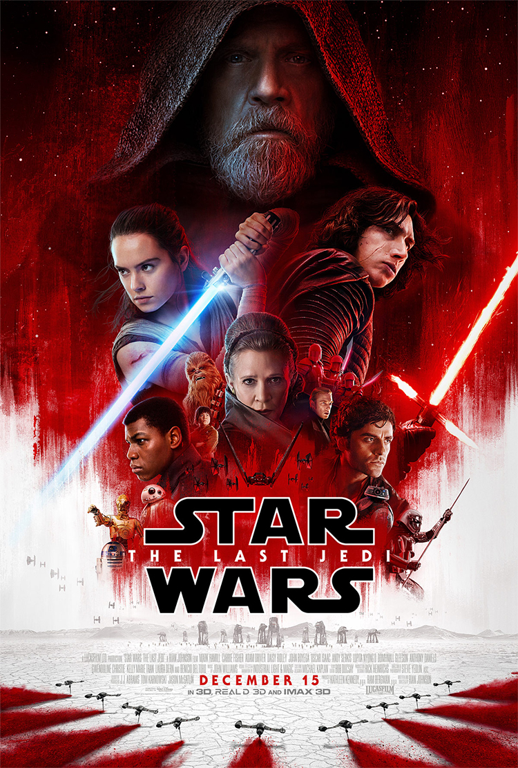 Plakaten for Star Wars: The Last Jedi. (Foto: Walt Disney Company Nordic).