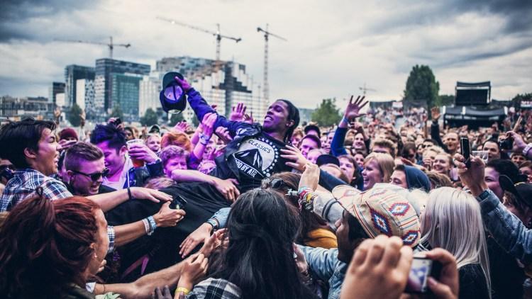 A$AP Rocky på Sjøsiden, Øyafestivalen 2012. (Foto: Kim Erlandsen, NRK P3)