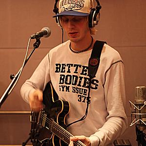 Peter Larsson fra Oslo Ess i Popsalongen. (Foto: Ali R. S. Pour, NRK P3)