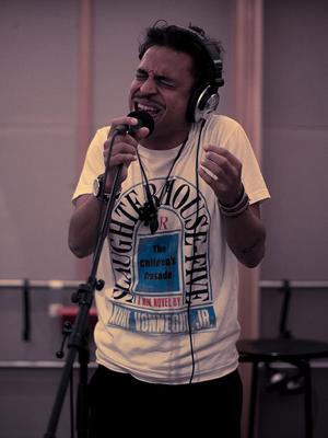TImbuktu og Damn! i Popsalongen på P3, mandag 19 nov 2012. (Foto: Rashid Akrim, NRK P3)