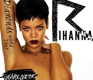 Rihanna tar med seg nye låter fra Unapologetic og gamle hits når hun gjester Oslo og Bergen med Diamond World Tour i juli 2012. Foto: Promo.