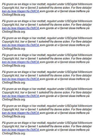 Da vi søkte etter mp3-filer med Rihannas musikk fikk vi mange advarsler om at lenker var blitt fjerna. Foto: Skjermdump.