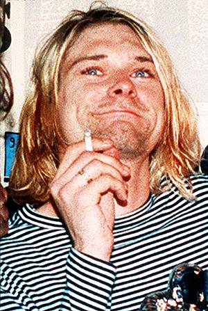 Kurt Cobain var vokalist i Nirvana, men tok livet av seg som 27-åring. Foto: NTB Scanpix / Mark J. Terrill, AP Photo.