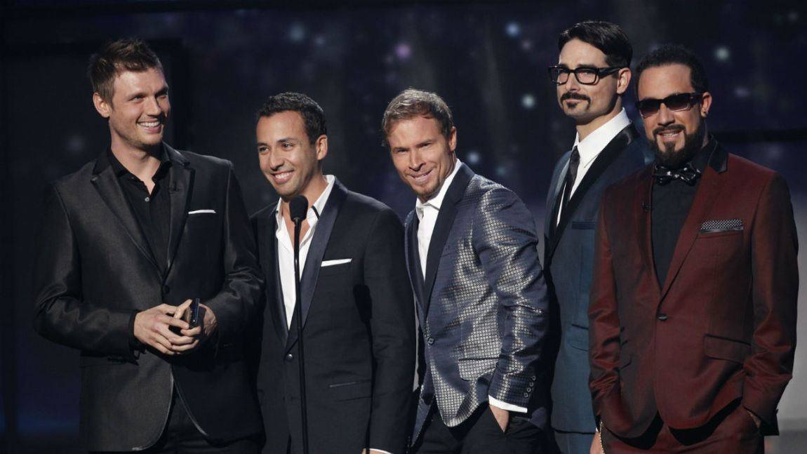 Backstreet Boys. Frå venstre: Nick Carter, Howie Dorough, Brien Littrell, Kevin Richardson og A.J. Maclean. (Foto: NTB Scanpix, Reuters, Danny Moloshok)