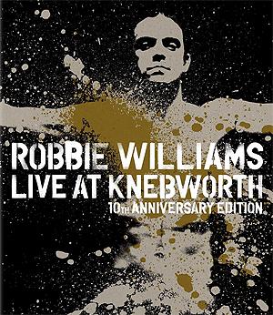 Robbie Williams er i disse dager også aktuell med jubileumsutgaven av Live At Knebworth-DVDen. Foto: Promo.