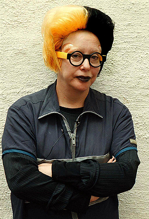 Den franske kunstneren Orlan mener seg plagiert av Lady Gaga. Foto: Erlend Haukeland, NTB Scanpix.