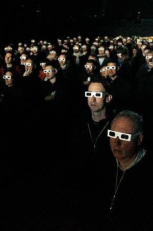 Konserten med Kraftwerk på Øya vil kunne oppleves gjennom 3d-briller. Foto: NTB Scanpix / Luke MacGregor, Reuters.