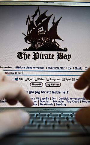 The Pirate Bay regnes som verdens største nettsted for deling av ulovlig kopiert innhold. Foto: NTB Scanpix / Marc Femenia, AP.