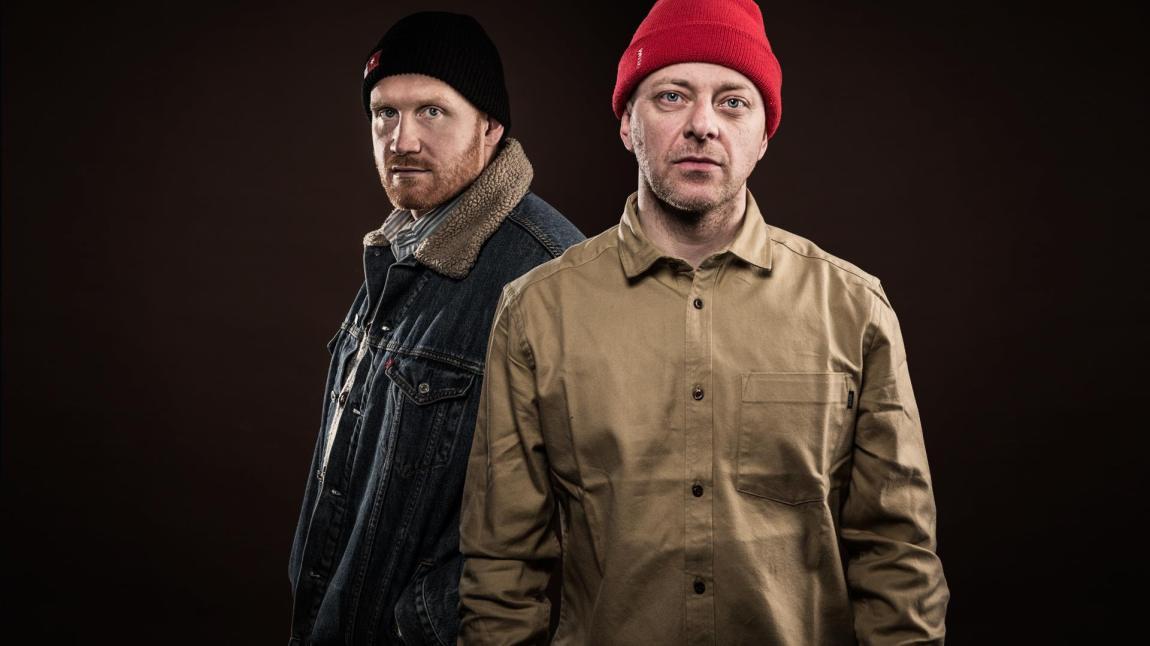 National Rap Show-duoen Tommy Tee og DJ Herkules feirer 25 år på lufta neste år. Foto: Kim Erlandsen, NRK P3