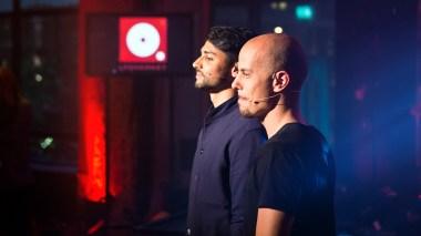 Fra Lydverket-sendingen i september 2012 med Karpe Diem som programledere.(Foto: Rashid Akrim, NRK P3)