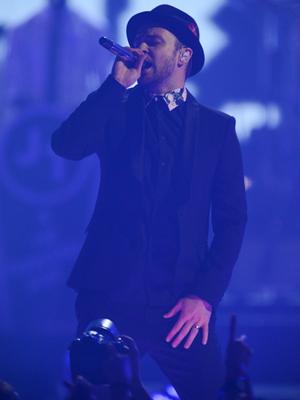 Justin Timberlake på scenen under iHeartRadio Music Festival (Foto: NTB Scanpix, AP, Powers Imagery)