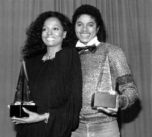 Diana Ross og Michael Jackson i 1981. Foto: AP