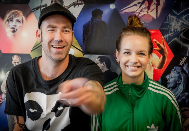 Ruben Gran og Christine Dancke arrangerte høstfest midt i Oslo sentrum. (Foto: Mattis Folkestad, NRK P3)