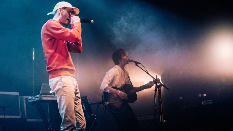 Lars Vaular og Sondre Lerche. Foto:: Kim Erlandsen, NRK P3