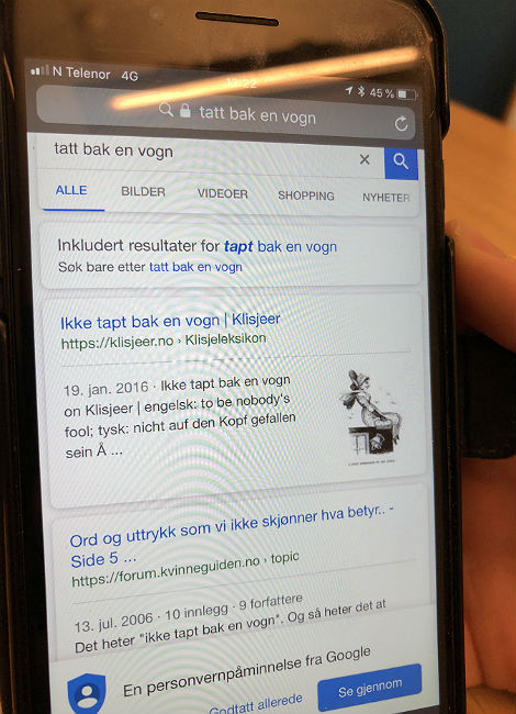 """Flesvig trodde det heter """"tatt bak en vogn"""". Jaja. Foto: Ali Soufi-Grimsrud, NRK P3"""