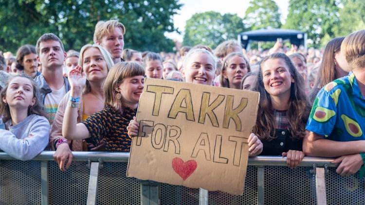 Kun kjærlighet fra fansen. Foto: Tom Øverlie, NRK P3