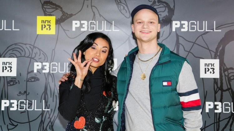 RØD LØPER: KingSkurkOne og Linda Vidala på P3 Gull 2017. Foto: Xueqi Pang, NRK P3