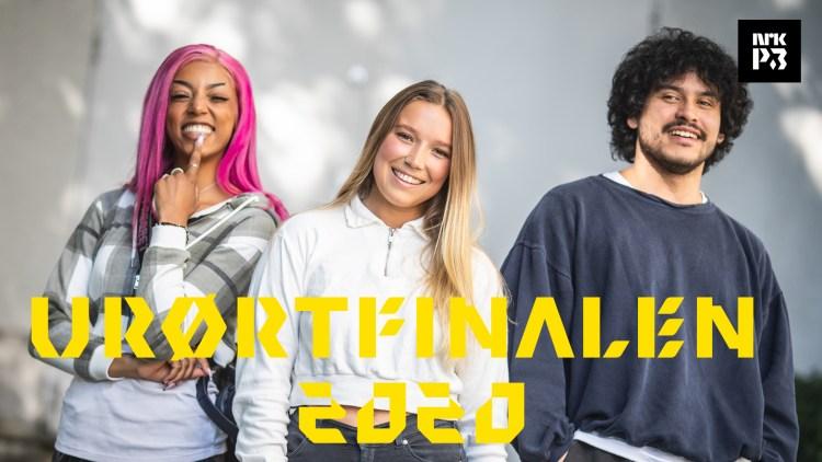 ÅRETS TRE FINALISTER: Raw B, Lotte og Henrik Felipe kjempet om førsteplassen under Urørtfinalen 2020. Foto: Jonas Jeremiassen Tomter, NRK P3