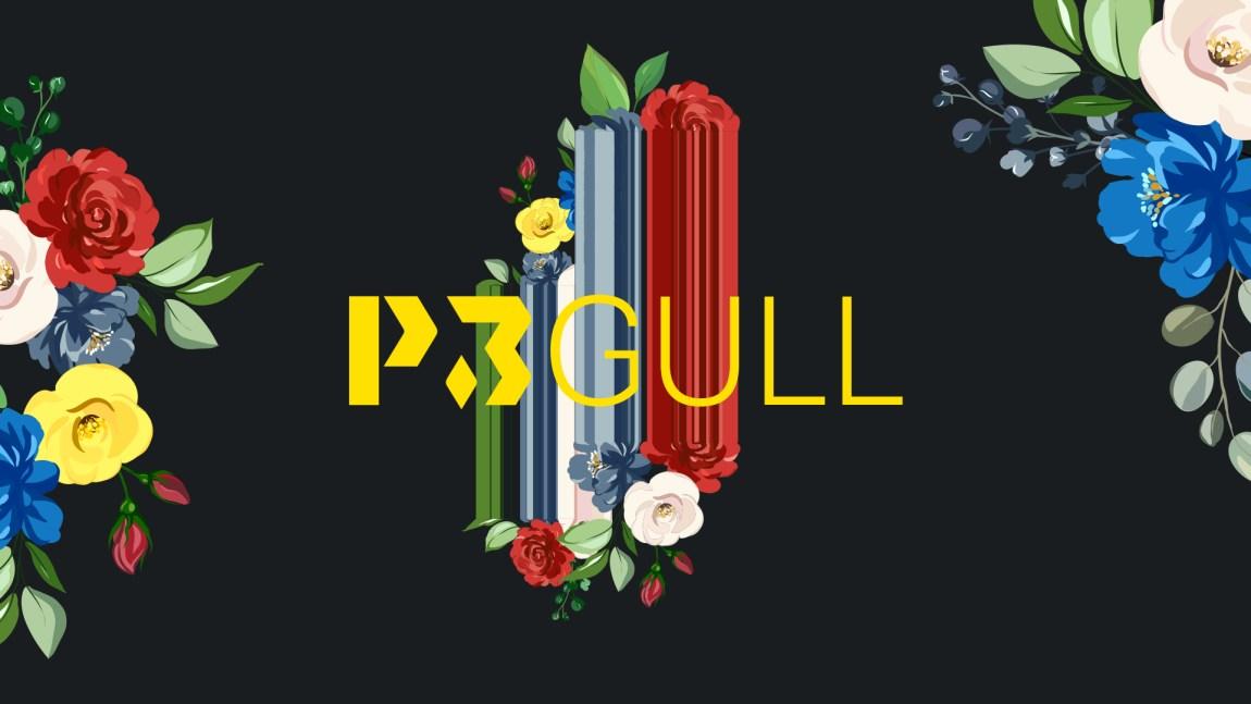 P3 Gull 2020 - logo med sort bakgrunn