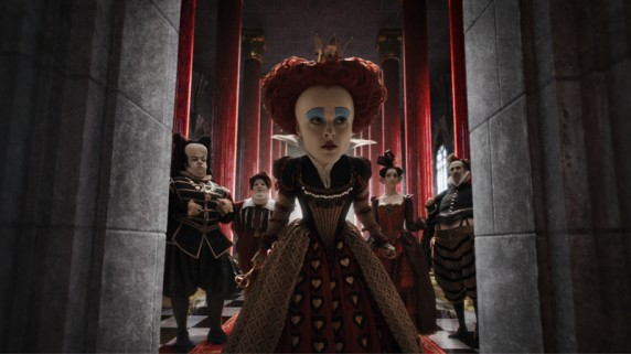 "Helena Bonham-Carter som den røde dronningen i ""Alice In Wonderland"" (Foto/Copyright: Walt Disney Studios Motion Pictures Norway)."