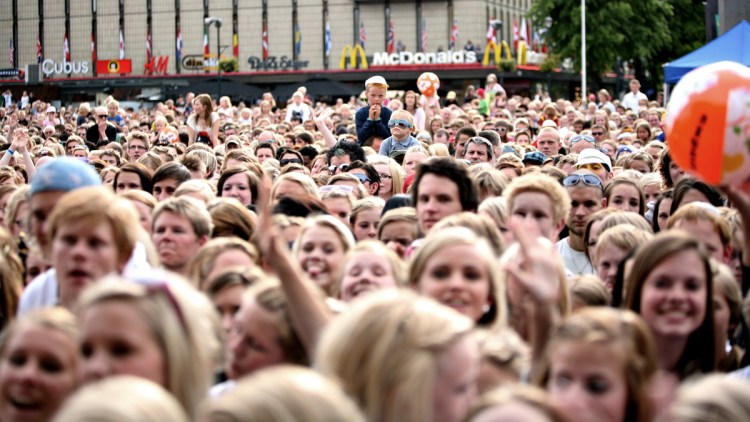 Publikum under Topp 20 i Trondheim. Foto: Erlend Lånke Solbu, NRK P3