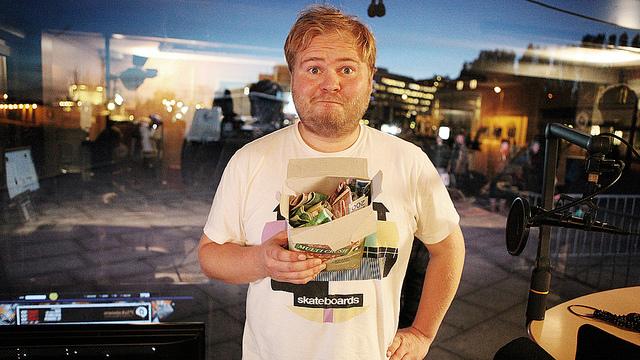 Ken Wasenius-Nilsen fra banden. (Foto: NRK P3)