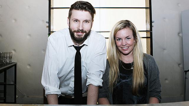 Thomas Eriksen og Silje Borgan Larsen utgjør halve kveldens jury. (Foto: Tom Overlie, NRKP3)