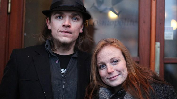 Bjørn Ivar Østen og Anne Dæhlen på P3Sessions med Kaizers. (Foto: Tom Øverlie, NRK P3)