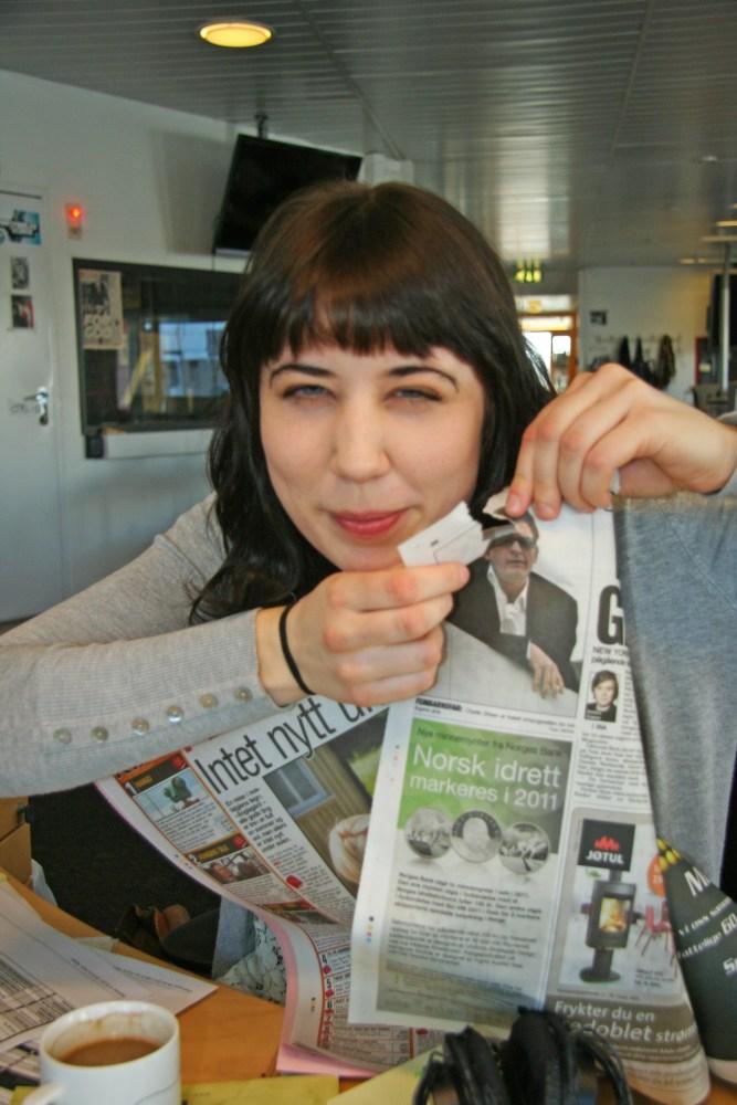 Charlie Sheen er teit. (Foto: Maria Laila Lindberg/NRK P3)