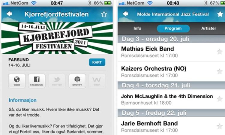 Festivalguiden. (Foto: screenshot, NRK P3)