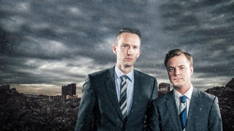 Sturle Vik Pedersen og Markus Gaupås Johansen i 5080 Nyhetskanalen (Foto: Kim Erlandsen, NRK P3).