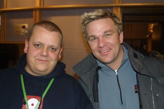 Rune Nilson med rallycrossfører Petter Solberg (Foto: NRK)
