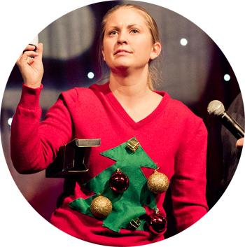 Siljes-julegenser fra fjorårets julefrokost. (Foto: Tom Øverlie, NRK P3)