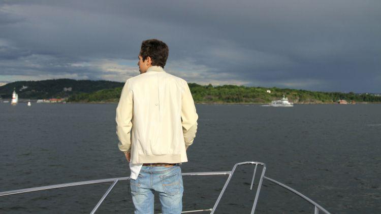 P3 ble med Austin Mahone på båttur i Oslo. Foto: Mina Knudsen, NRK P3