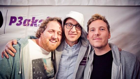 Ronny, Mathias og Niklas. (Foto: Tom Øverlie, NRK P3)