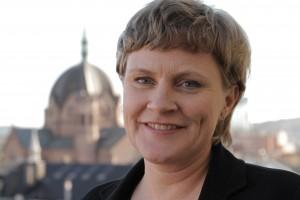 Anne-Marie Helland er generalsekretær i Kirkens Nødhjelp. (Foto: Laurie MacGregor, Kirkens Nødhjelp)