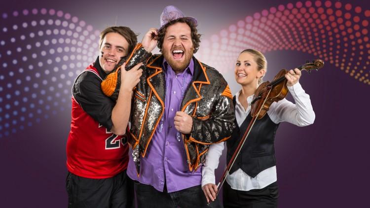 Markus, Ronny og Silje er klare for Eurovision-fest på NRK3. Er du? (Foto: Kim Erlandsen, NRK P3).