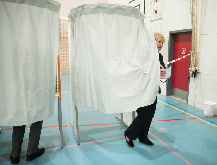 Alle politikere elsker å stemme! Foto: Heiko Junge, NTB Scanpix