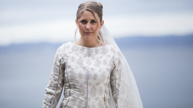 Silje Nordnes i rollen som Askepott. Foto: Kim Erlandsen, NRK P3.