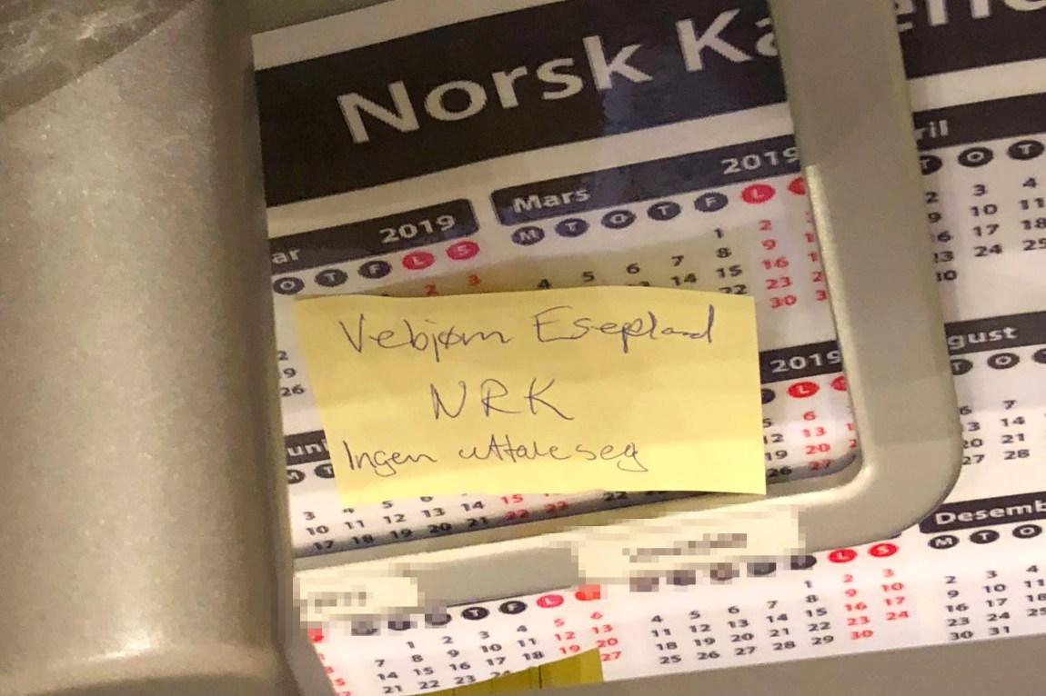 INNSJEKK: Ingen på hotellet skulle uttale seg til NRK.